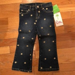 Lilly Pulitzer NWT Size 3T starfish denim jean